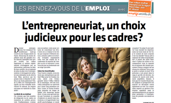 L'entrepreneuriat, un choix  judicieux pour les cadres?